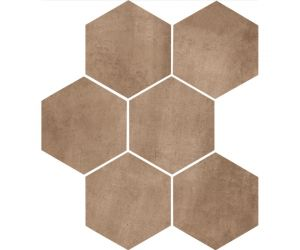 Gresie Gresie / Faianta CLAYS Earth Hexagon 21x18,2 cm