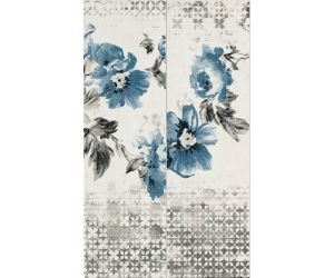 Decoruri faianta Decor CHROMA FLOWER Blue 11.5x38 cm