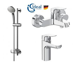 Set baterii 3in1 Ideal Standard Ceraflex include baterie cada, baterie lavoar si set dus